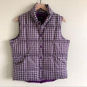 Lands' End Jackets & Coats - Lands' End | Puffer Vest Purple Plaid Jacket